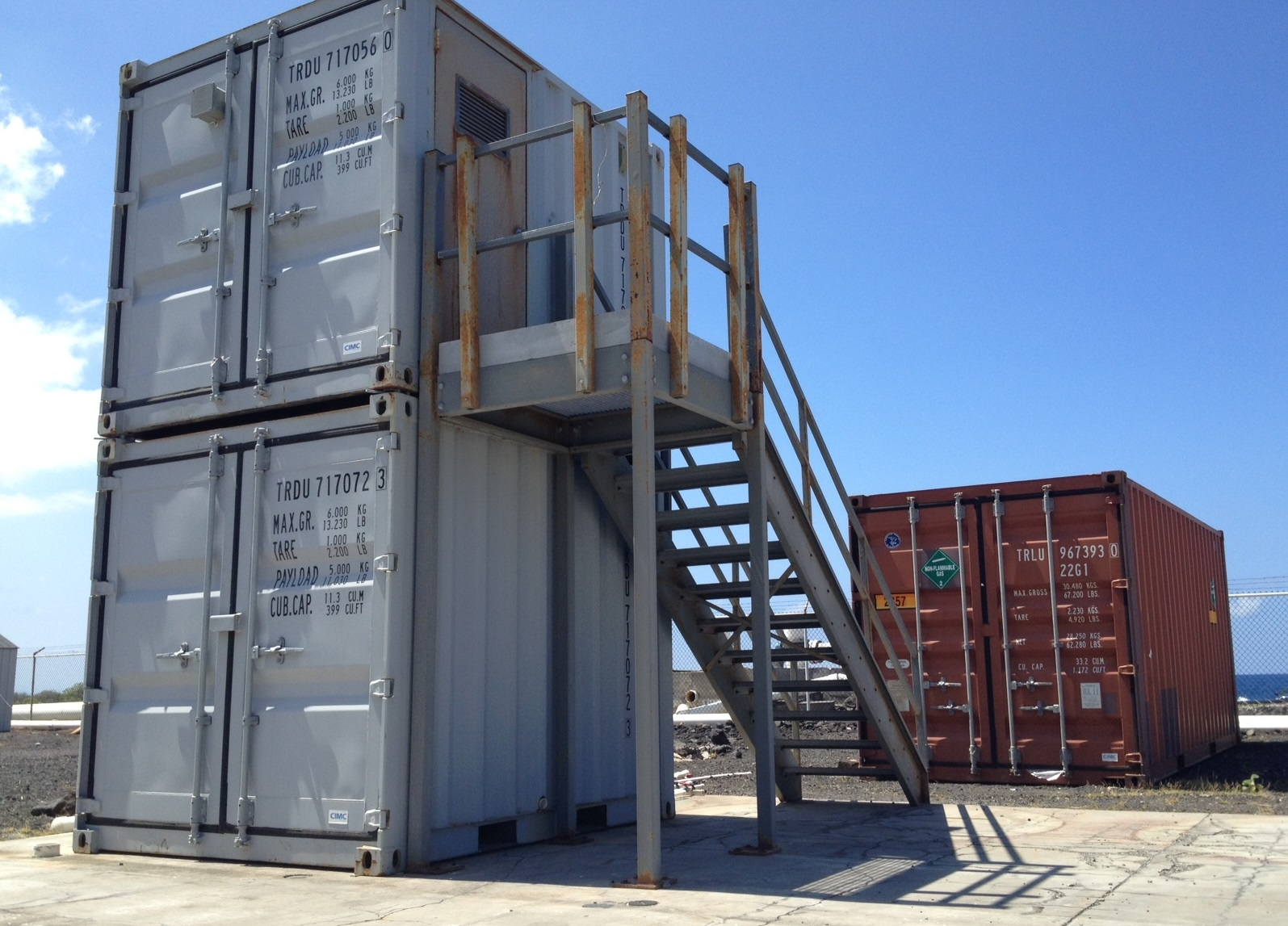 Photo of containerized demonstration